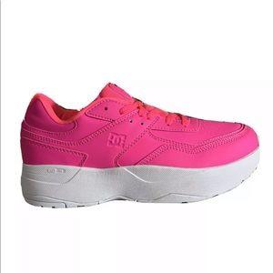 NEW DC E Tribeka SE Neon Pink Skate Shoes Size 10